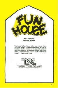 Mysert Fun House advertisement