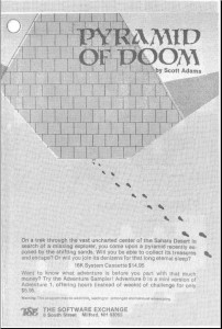Pyramid of Doom advertisement