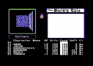 The Bard's Tale on the Commodore 64. Note that this predates the screenshot immediately above by two full years.