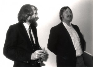 Ken Williams (right) hobnobbing with Jim Henson