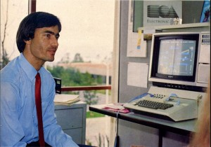 Trip Hawkins at the new Electronic Arts offices, 1983