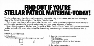 Planetfall questionnaire