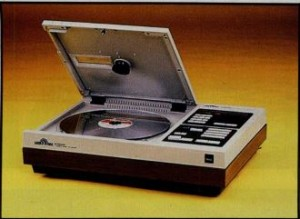 The Pioneer VP-1000, most popular of the early consumer-grade laser-disc players
