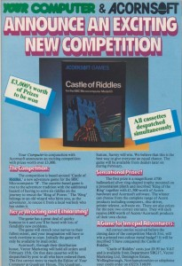 Castle of Riddles contest announcement