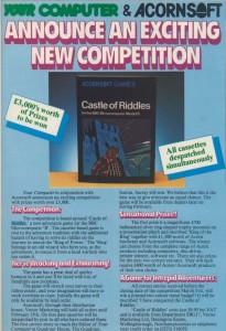Castle of Riddles contest announcement