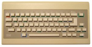 "The PCjr's infamous original ""Chiclet"" keyboard"