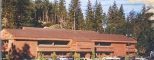 """The Sierra """"redwood"""" building, custom-built for them in 1982"""