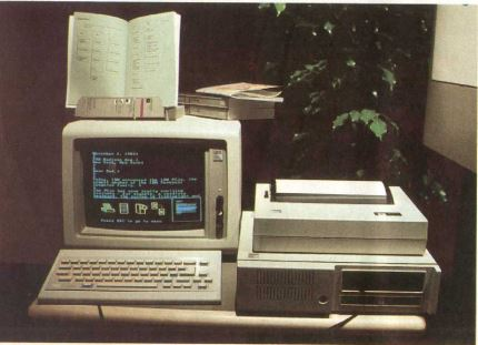A PCjr in a typical home-office configuration