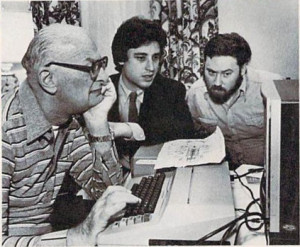 Arthur C. Clarke with Byron Preiss and David M. Harris, Telarium's editor
