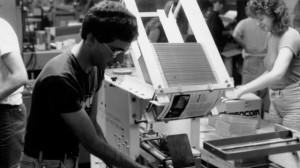 Jon Palace helping to feed the Christmas demand for Zork II, 1984
