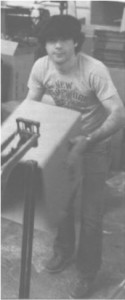 Mike Berlyn clowning around on the Infocom assembly line, November 1984