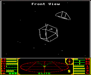 BBC Micro Elite. Note that the rendering is far from perfect, with lots of line breakage. Luckily, this isn't so obvious when the ships are in motion.