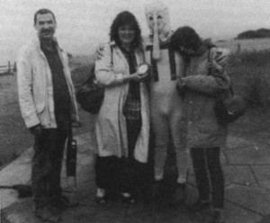 Mel Croucher, Sue Cooper, Christian Penfold (as the Piman), and Lizi Newman