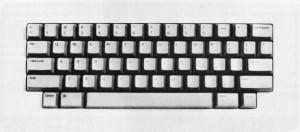 The original Mac keyboard, complete with no cursor keys