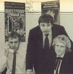 Nigel Bamford, Michael Woodroffe, and Patricia Woodroffe of Adventure International UK