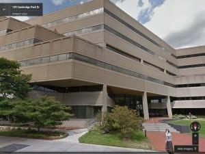 125 CambridgePark Drive today. Infocom occupied much of the fifth floor.