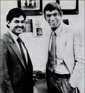 Jay Balakrishnan with Leonard Nimoy