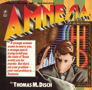 Harper & Row's original Amnesia box art