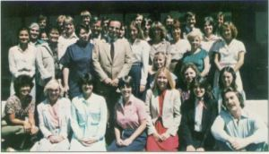 "Jim Levy surrounded by his Activision ""family,"" 1981"
