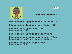 The unforgettable Agatha Maypole