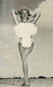 Showgirl Lee Merlin, Miss Atomic Bomb 1958.
