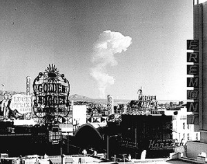 One of the many test shots seen from the Las Vegas strip during the 1950s.