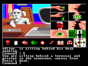 Tass Times in Tonetown on the Amiga. Ennio is on the case.