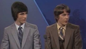 A very young Don Mattrick and Jeff Sember on CBC's Front Page Challenge, March 20, 1983.
