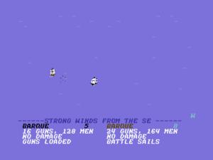 A battle at sea.