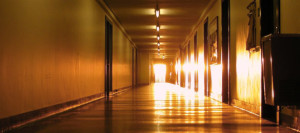 The Infinite Corridor during MIThenge.