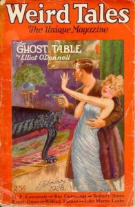 The February 1928 Weird Tales that included Lovecraft's most famous story. As always, it didn't make the cover.