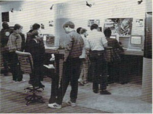 The MicroIllusions booth at the January 1988 AmiExpo show in Los Angeles, which filled half on one wall inside the Westin Bonaventure's convention space.