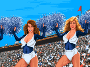 The inevitable cheerleaders.
