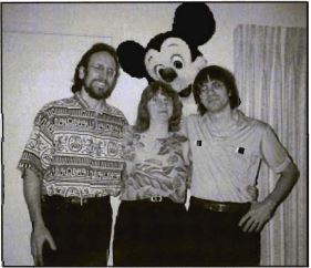 Bill Williams (right), Marsha Williams, and a friend in a snapshot taken shortly before Bill's death.