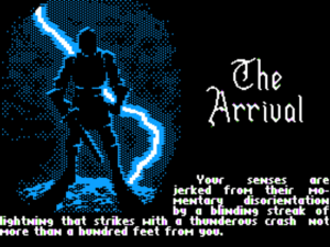 Thanks to Denis Loubet, Origin's newly installed artist, Ultima V looks much better than the previous games in the series even on a graphically limited platform like the Apple II.