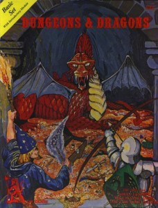 The original 1977 Dungeons & Dragons Basic Set.