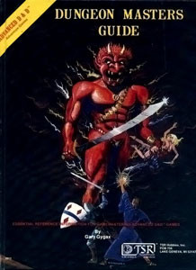 The Dungeon Master's Guide's cover didn't do much to convince concerned parents that this game wasn't Satanic.