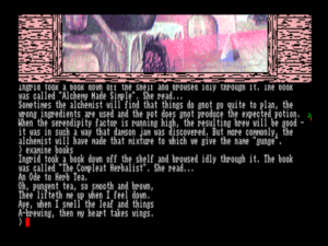 Gnome Ranger and most of the other late Level 9 games are among the few text adventures written in the third-person past tense.