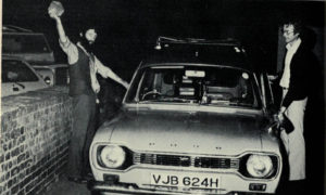 Kit Williams and Bamber Gascoigne set off to bury the hare on the evening of August 7, 1979.