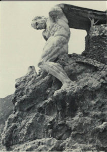 The Italian version of the hare -- or rather, a message in a box telling the finder whom to contact to collect it -- was hidden beneath the heel of this striking statue of Neptune that is carved into a cliff near the village of Monterosso al Mare.