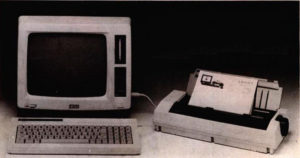 The first Amstrad PCW machine, complete with bundled printer.