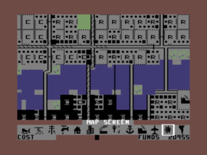 SimCity on the Commodore 64
