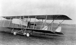 A Maurice Farman biplane
