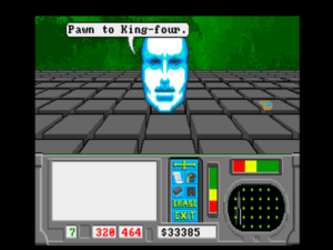 About to do battle with an artificial intelligence, the most fearsome of the foes you'll encounter in the Matrix.