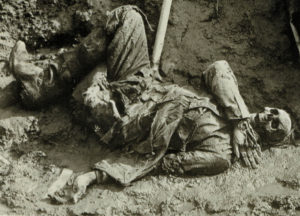 The grim reality of war in the trenches.