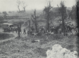 The Somme in 1916, looking like a scene out of Dante.