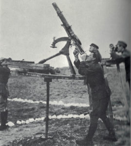 An antiaircraft gun.