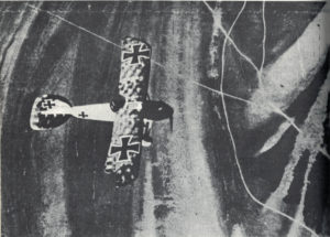 An Albatros D.III, the scourge of Bloody April, seen from above -- the only angle from which any Allied pilot wanted to see one, if he had to see one at all.