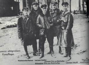 The Red Baron (center) with some of his fellow Flying Circus performers.