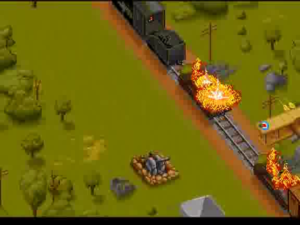 Strafing a German train...